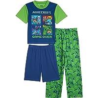 Minecraft Conjunto de Pijama de 3 Piezas. Juego de Pijama para Niños