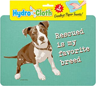 product image for Fiddler's Elbow Hydro Cloth Dog Breed Dishcloths | Set of 2 | Eco-Friendly Dish Cloths | Paper Towel Replacements (Pit Bull)