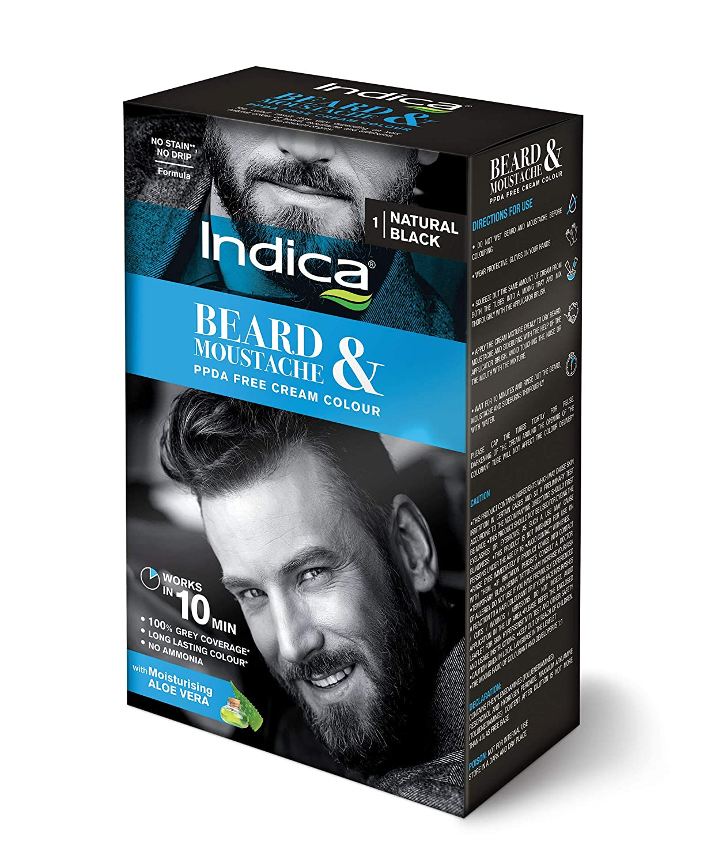 Buy Indica Beard And Moustache Dark Brown 32g Online At Low Prices Bigen Speedy 2 X 30gr In India