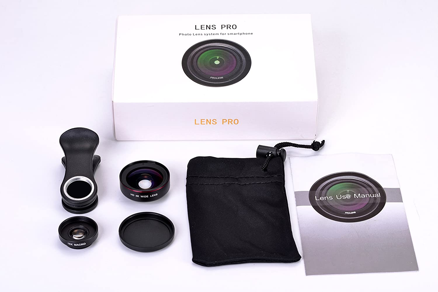 Veetop Mobile Phone Camera Lens Kit, 2 in 1 Clip on HD Cell Phone ...