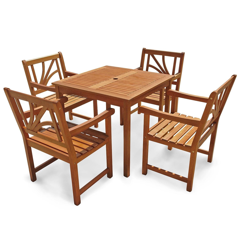 indoba ind 70067 lose5q serie lotus gartenm bel set 5 teilig aus holz fsc zertifiziert 4. Black Bedroom Furniture Sets. Home Design Ideas