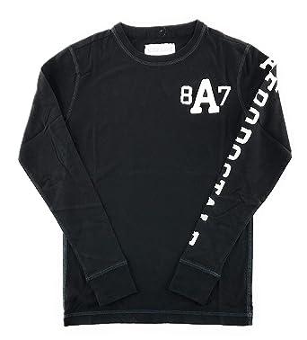 dd9ada5f Aeropostale Mens Long Sleeve Graphic T-Shirt Black X-Small | Amazon.com