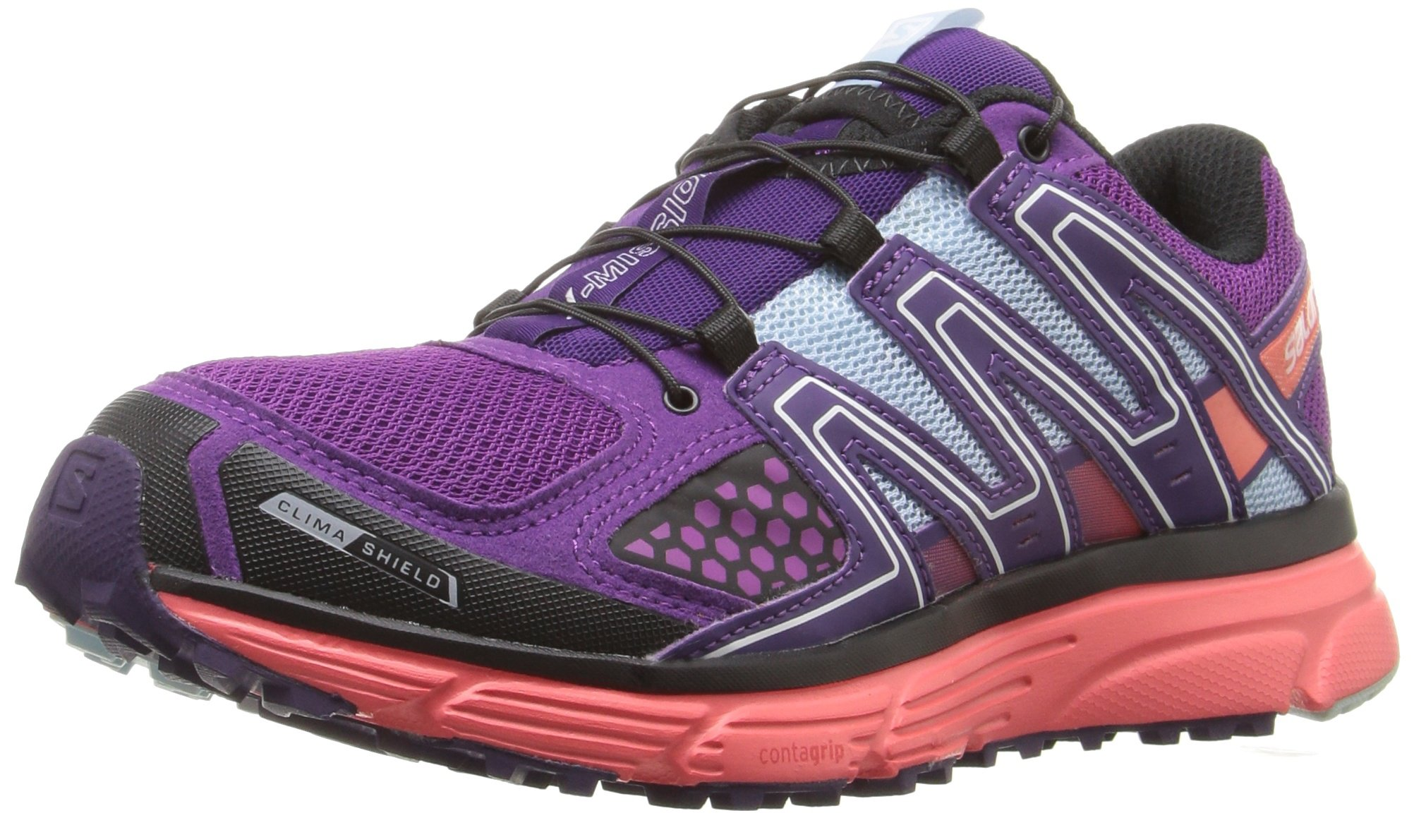23c1999bd272 Salomon Women s X-Mission 3 CS W-W Trail Runner Passion Purple Coral ...