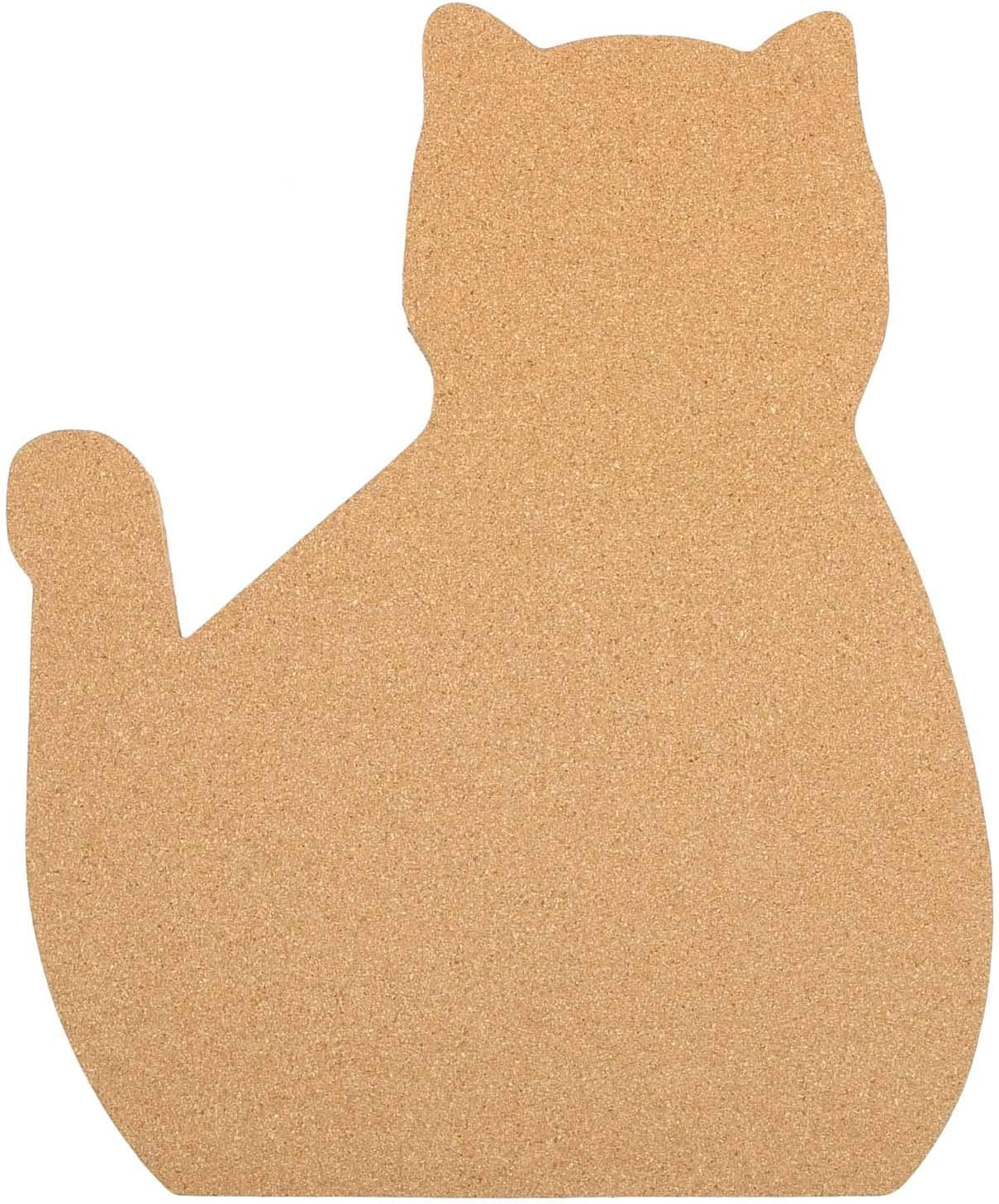 "12"" x 15 "" Cat Shape Large Cork Board Tiles, Thick Cork Board, Gift for Cat Lover, Office Cat Gift, Unique Style Bulletin Board, Ultra Strong Self Adhesive Backing, Bulletin Pin Safe"