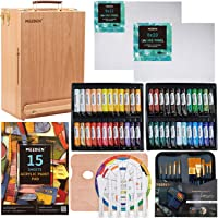 MEEDEN 70-Piece Premium Acrylic Painting Set - Solid Beech Wood Easel Box, 48×22ML Acrylic Paint Set, and All Additional…