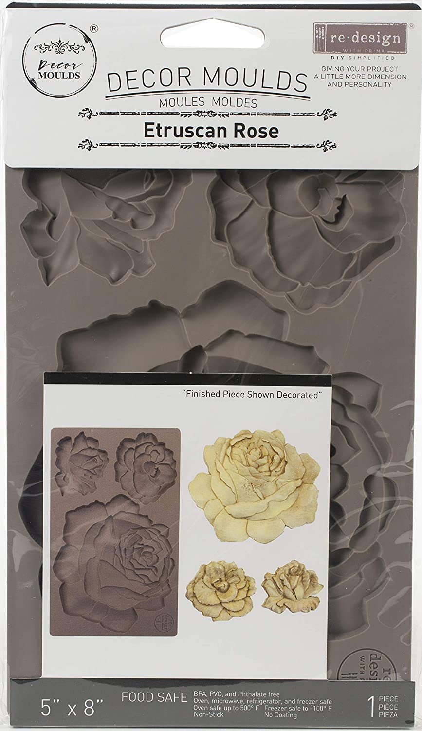 PRIMA MARKETING INC Redesign Mould 5X8 ETRUS Rose, Pink, One Size
