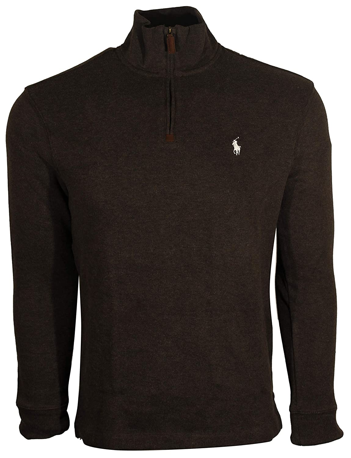 2ab63de00922 Polo Ralph Lauren Mens Half Zip French Rib Cotton Sweater ...