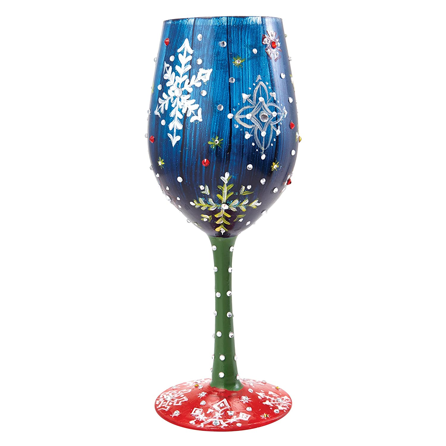 "ENESCO Designs by Lolita ""Happily Engaged"" Hand-painted Artisan Wine Glass, 15 oz. 4056855"