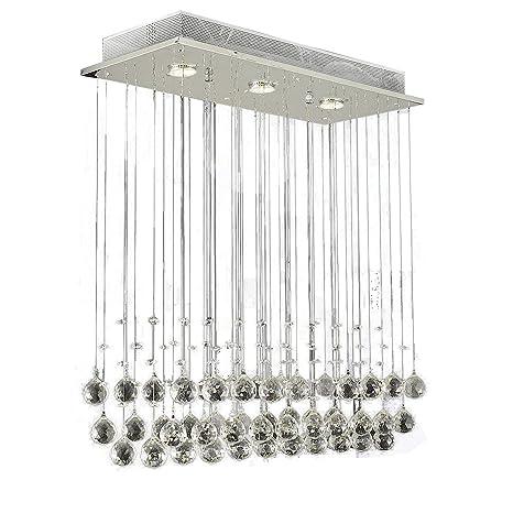 glass drop light fixture pendant lights lightess modern chandelier lights rain drop lighting crystal ball fixture pendant ceiling lamp amazoncom