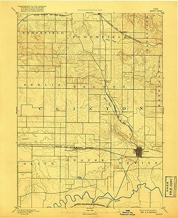 Amazon Com Yellowmaps Dewitt Ia Topo Map 1 62500 Scale 15 X 15