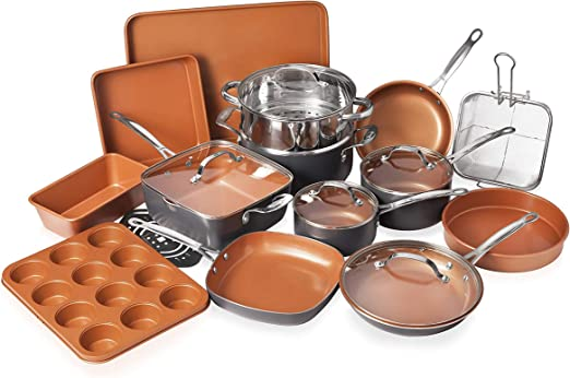 Amazon.com: Gotham - Juego de utensilios de cocina de 20 ...
