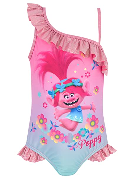 8a4953546600e Trolls Girls' Poppy Swimsuit Pink: Amazon.ca: Clothing & Accessories