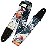 "Levy's Leathers 2"" Polyester Guitar Strap Sublimation-Printed with original artist's Design, Genuine Leather Ends (MPD2…"
