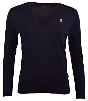 07362ddb4abf Polo Ralph Lauren Womens Pima Cotton V-Neck Sweater at Amazon ...