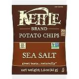 Kettle Brand Potato Chips, Sea Salt, 1.5-Ounce Bags (Pack of 24)