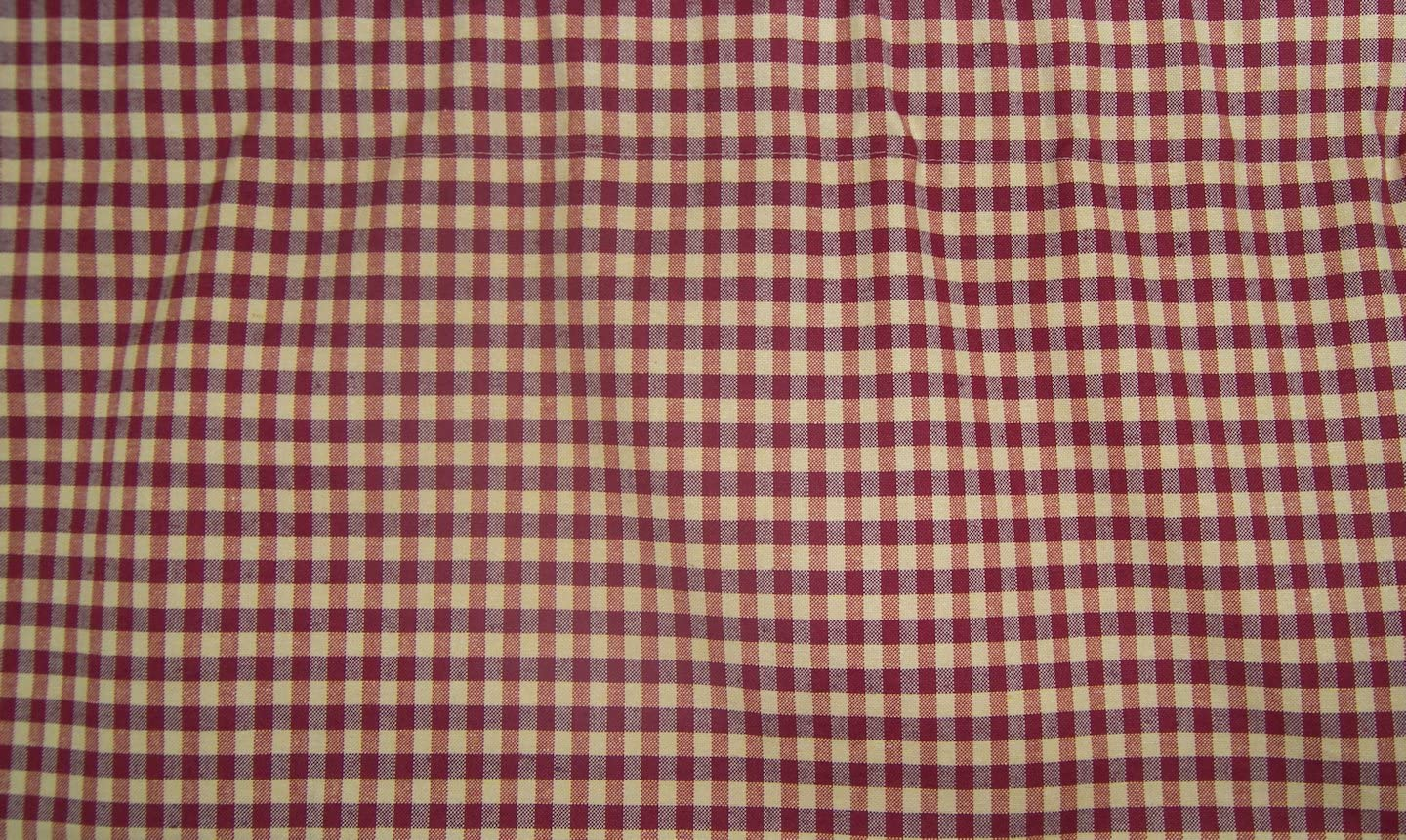 RLF HOME Rusty Check Valance, Red