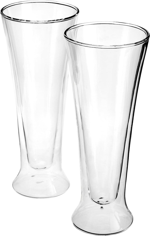 Luigi Bormioli Set of 2 Duos Pilsner Glasses, 15 oz.