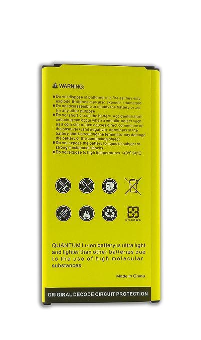 Amazon.com: Batería Quantum para Samsung Galaxy S5, 2800 mAh Batería de Litio para el Galaxy S5 G900F, G900V, G900T, G900A, G900P, 12 meses de garantía.