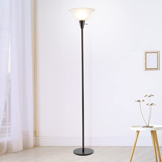 Amazon Com Lavish Home 72 Torch 1 Torchiere Floor Lamp Standing