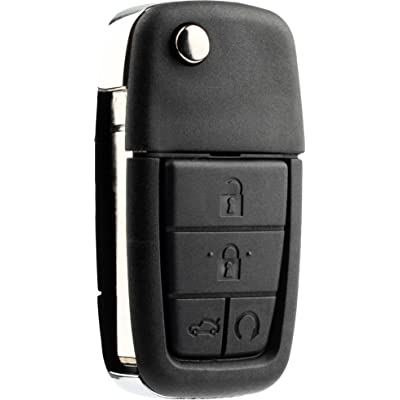 KeylessOption Keyless Entry Remote Fob Blank Uncut Chip Ignition Car Key for Pontiac G8 08-09 OUC6000083: Automotive