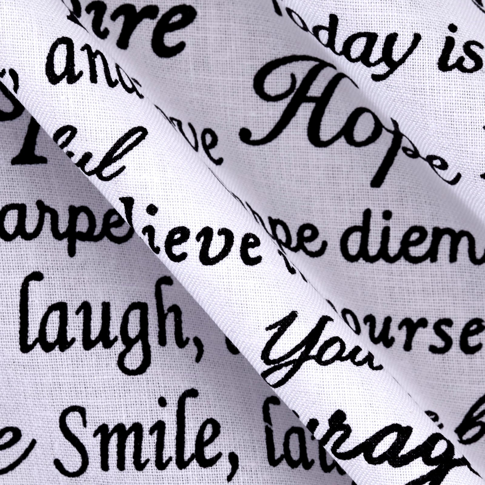Windham Fabrics Sew Full 108in Wide Hope Words Black White Fabric by The Yard by Windham Fabrics (Image #3)