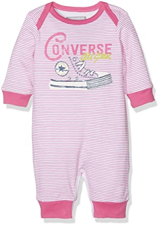 0ad035690 Converse Baby Girls 0-24m Star Coverall Romper, (Mod Pink), 9-12 Months:  Amazon.co.uk: Clothing