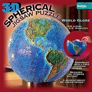 3D Spherical Puzzle - World Globe