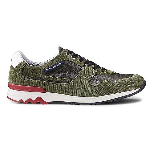 newest sale uk where can i buy Floris van Bommel Herren Sneaker P7 1622008 Olive grün 446686