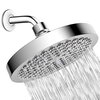 Shower Head - High Pressure Rain - Luxury Modern Chrome Look - Easy ...