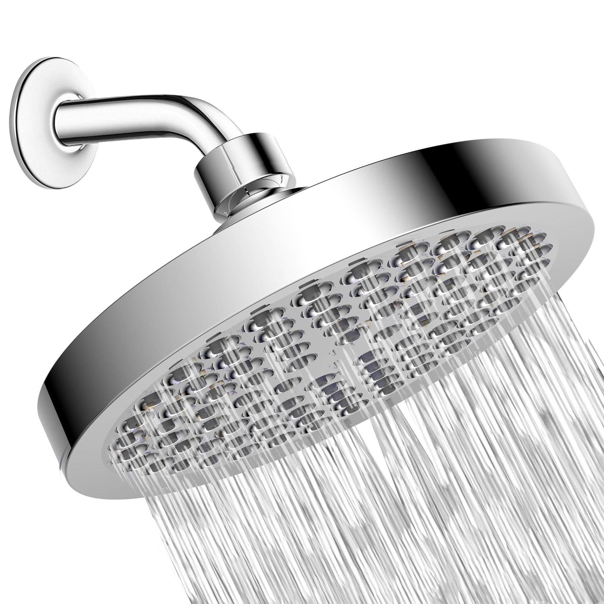 Shower Head - High Pressure Rain - Luxury Modern Chrome Look - Easy Tool Free Installation - The Perfect Adjustable & Heavy Duty Universal Replacement For Your Bathroom Shower Heads