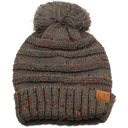 edf16914a Oversized Super Big Slouchy Pom Pom Warm Chunky Stretchy Knit Beanie Hat