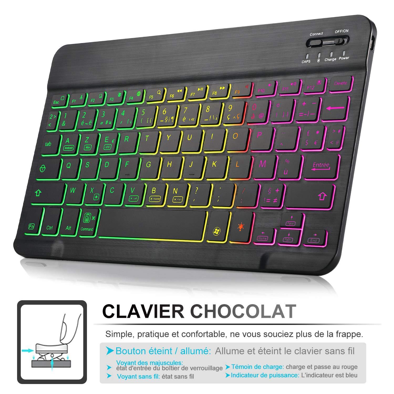 Pelle PU Custodia con Rimovibile Wireless Keyboard Tastiera per Samsung Tab S6 SM-T860//T865 Layout Italiano(/é./ç ./§) Nero ELTD Tastiera Custodia per Samsung Galaxy Tab S6 SM-T860//T865,
