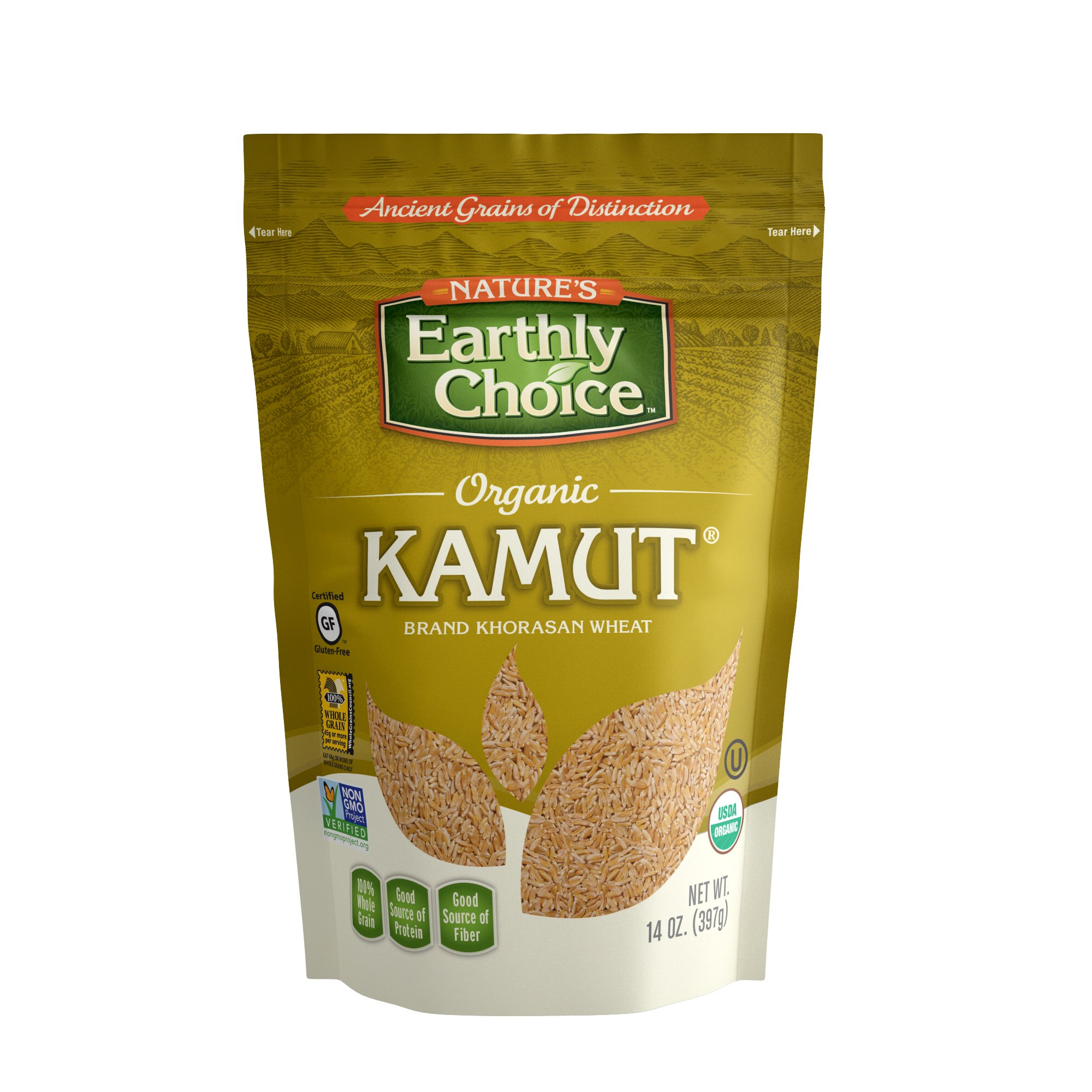 Nature's Earthly Choice Organic Premium Kamut Brand Khorasan Wheat, 14 Ounce