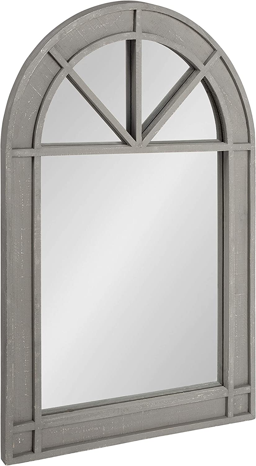 Kate and Laurel Stonebridge Rustic Arch Mirror Wall Decor, 24