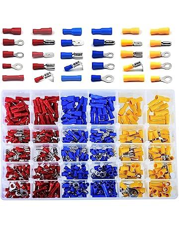 grifos de empalme de cable r/ápido y terminales de desconexi/ón r/ápida macho aislados para 22-12 AWG IGNPION 120 piezas//60 pares de conectores el/éctricos T-Tap