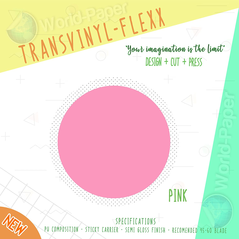 Hot Pink Heat Transfer Vinyl Press HTV 10 x 5 Yards.