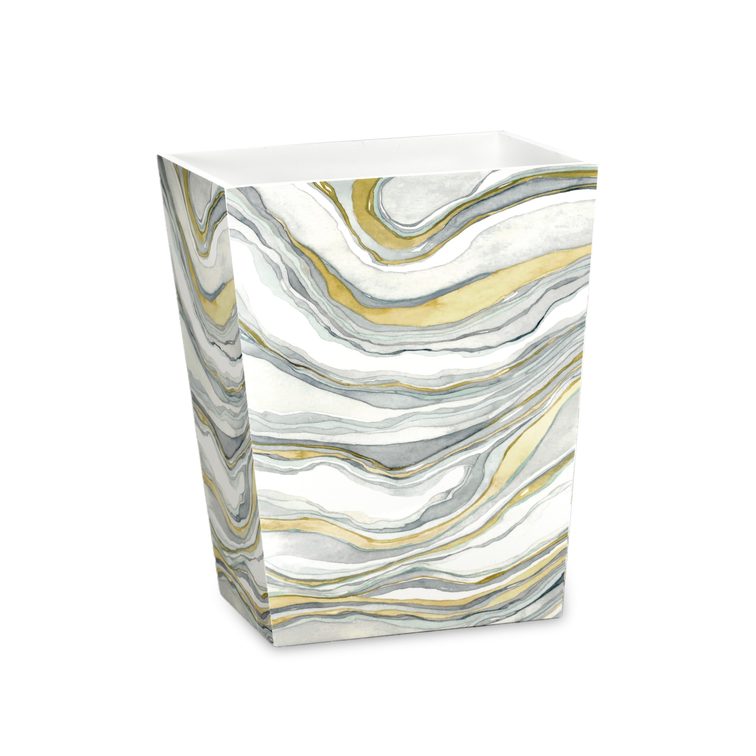 CDM product Shell Rummel Waste Basket, Sand Stone Collection, Multicolor big image