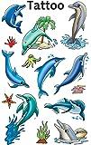 Avery Zweckform 56439 Kinder Tattoos Delfine (temporäre Transferfolie, dermatologisch getestet) 13 Aufkleber