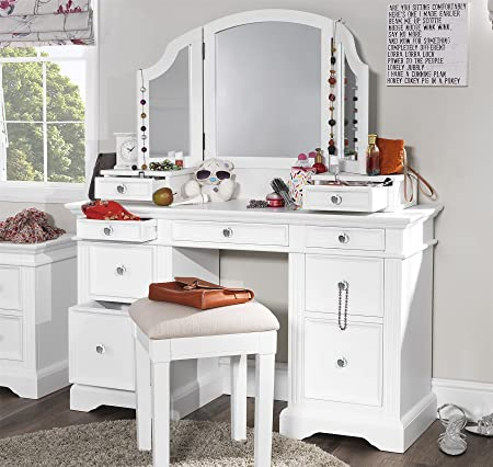 Gainsborough White Dressing table set with extension drawers and ...