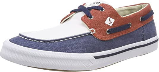 Sperry Bahama II Boat Washed Navy/Red/Wht, Zapatos de Vela. para Hombre