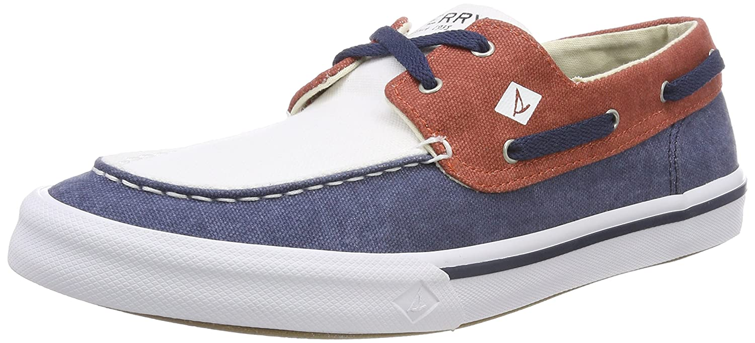TALLA 45 EU. Sperry Bahama II Boat Washed Navy/Red/Wht - Náuticos Hombre