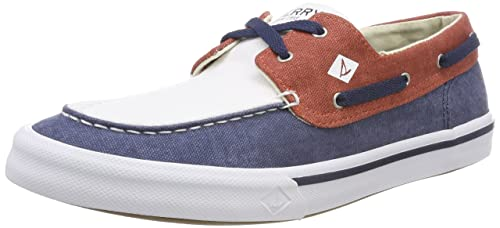 Bahama Ii Boat Washed Navy/Red/WHT, Mens Boat Sperry Top-Sider
