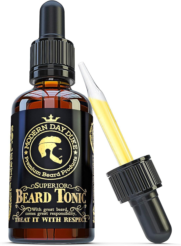 Aceite para barba de calidad superior con aceite de coco, argán y pachuli, 50 ml, el mejor aceite para tener una barba espesa y completa, mejora y acondiciona el vello facial, de Modern Day Duke