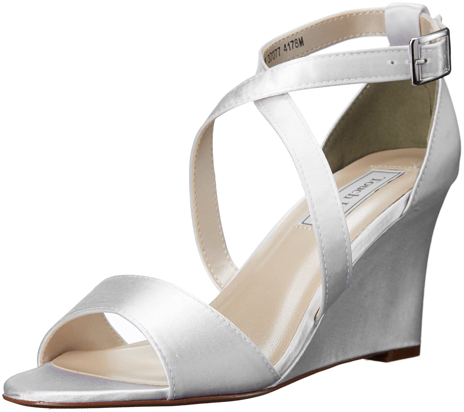 Touch Ups Women's Jenna Wedge Sandal B01AKAXMZO 7 B(M) US|White