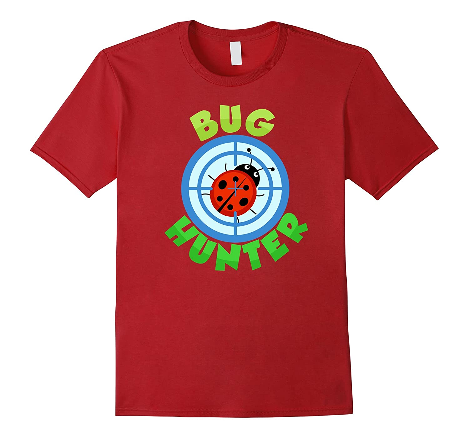 Cute Bug Hunter T-shirt, Ladybug, Bug Hunting by Zany Brainy-Art