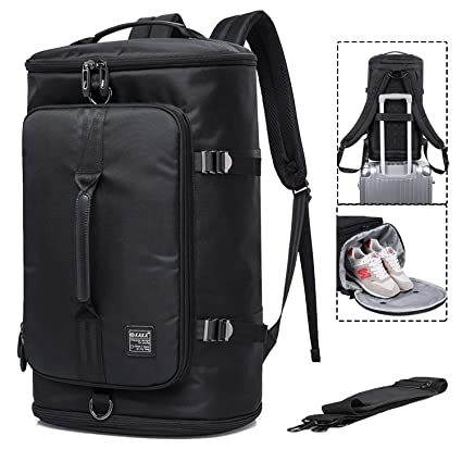 Travel Business Laptop Backpack 3-Way Duffel Luggage Gym Sports Bag with  Shoe Compartment College 12616218ddec