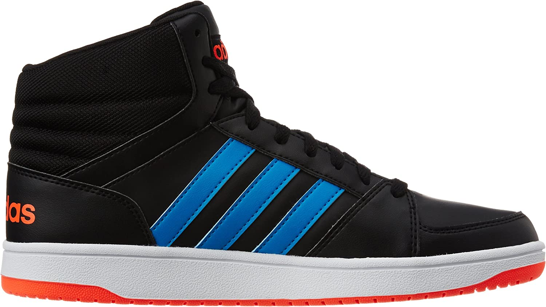 adidas Hoops VS Mid, Chaussures de Sport Homme Noir - Negro (Negbas / Azusol / Rojsol)