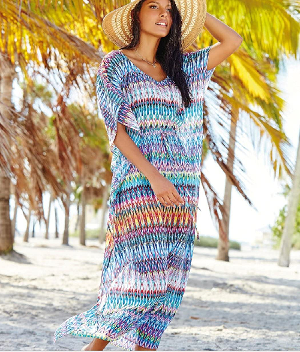 Strandtuch Chiffon Badekleidung Kleid lang Esenfa Kaftan f/ür Damen