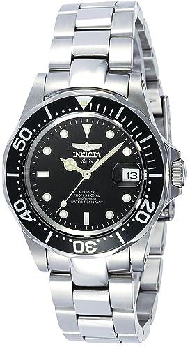 Invicta 9937 - Reloj de Pulsera Hombre, Acero Inoxidable, Color Plata: Invicta: Amazon.es: Relojes