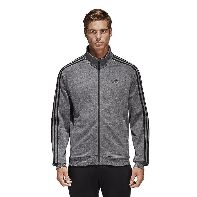 adidas Men's Essentials 3 Stripe Tricot Track Jacket: ADIDAS
